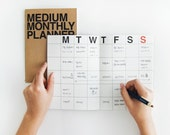 Monthly planner -medium size