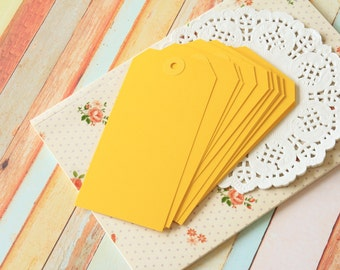 25pcs Large YELLOW Reinforced DIY LUGGAGE blank tag labels