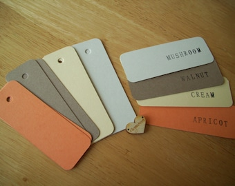 50 earthy vintage mix mini card tags