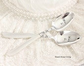 Nautical Wedding Decorations Mr. Mrs. Spoon Set You Are My Anchor - Calm Seas