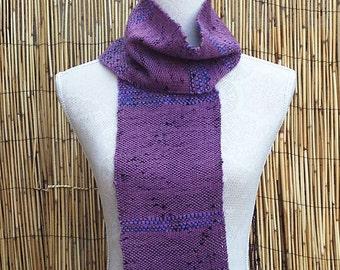 Woven Scarf - Ladies Hand Woven Scarf in Alpaca, Silk and Handspun Yarn