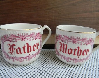 Grandparents day gift ideas mugs for dad grandfather Vintage coffee tea cups Pregnancy Announcement mug cups farmhouse chic gifts under 25