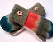 SALE Etsy mittens, recycled sweaters, fleece lined mittens, felted wool mittens, etsy sweater mittens, colorful, felted wool