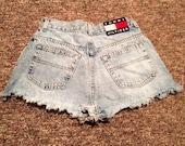 90s TOMMY HILFIGER Cut Off Jean Shorts