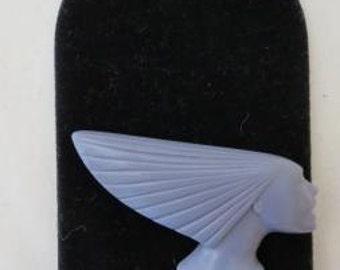 "VTG Signed ""Art Deco 89"" DECO Head Profile Head Resin Brooch"