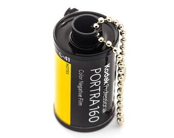 Recycled 35mm Film Keychain - Kodak Portra 160