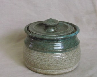 Turquoise and Tan jar