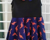 Dinosaur Dress with Peter Pan Collar