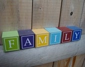 Wooden letter blocks, personalized blocks, baby name blocks, childrens letter blocks, children's name blocks, custom letter blocks