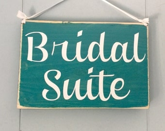 8x6 Bridal Suite  (Choose Color) Rustic Shabby Chic Sign Custom Wedding Wall Door Hanger handmade Sign