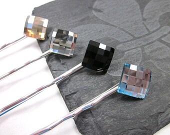 Swarovski Hair Pin Set -- Crystal Hair Pin Set -- Crystal Bobby Pins -- Swarovski Hair Pins -- Sparkling Hairpins -- 4 Hair Pins --Hair Pins