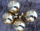 "Hard To Find - Set of 4 Brass Finials Balls That are 1 3/4"" That are for antique Iron Bed with 3/8"" thread"