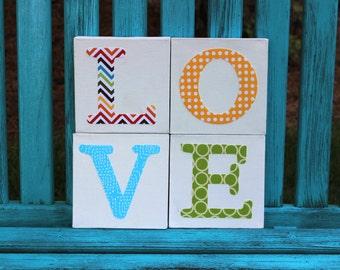 Love Letters Nursery Wall Art or Chilren's Wall Art