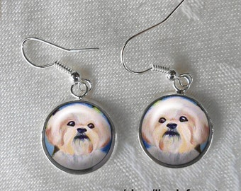 Shih Tzu Drop Earrings ~ Birthday Gift ~ Gift Under 10 ~ March Finds ~ Trending Items ~ Cute Earrings