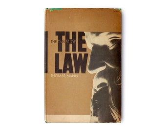 """Paul Rand book cover design, 1945. """"The Tables of the Law"""" by Thomas Mann"""