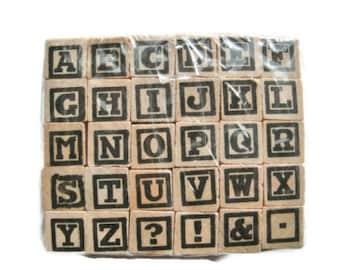 Mini uppercase alphabet stamps by Studio G set of 30