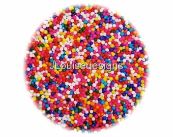Bright Nonpareils Edible Sprinkles Cakepops Cupcake CandyConfetti Decorations 2oz.