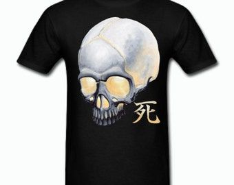 Skull with Death Kanji Tee