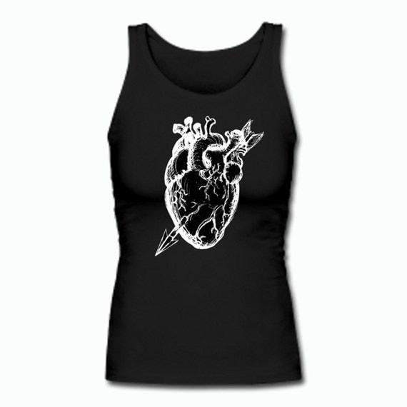 Anatomical Black Heart tank top