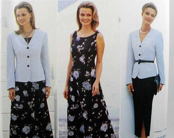 Butterick 4508, Misses' Jacket, Dress and Skirt, JH Collectibles Sewing Pattern, Easy Pattern, Misses'/Misses' Petite, Size 18 - 22, Uncut