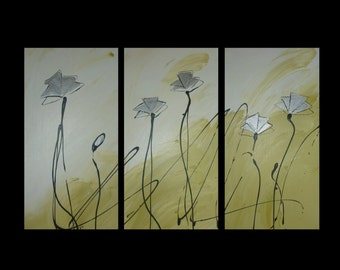 3 canvas ABSTRACT CANVAS PAINTING