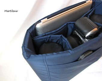PreOrder Camera Bag Insert in Navy - 2 Lens Style - Choose Size