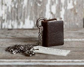Book Necklace: Chocolate by Peg and Awl