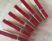 Glitter Clothespins - clothes pins - Decorations for weddings - place cards, favors, escort cards, wishing tree, packageing