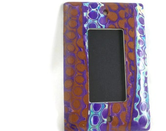 Slider switch cover polymer clay multi colors