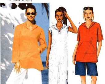 Butterick Sewing Pattern 3142 - Misses' Top, Cover-Up, Shorts and Pants - Sz L/XL