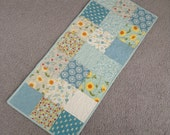 Pretty Blues Summer Quilted Table Runner
