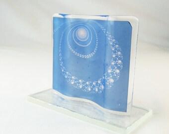 Fractal Fused Glass Art Tile