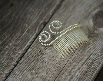 Antique jeweled Hair Comb