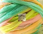 Rainbow Sherbert Pastel Silk Chiffon Ribbon I
