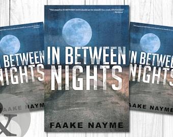 "Premade Digital Book eBook Cover Design ""In Between Nights"" Literary Fiction Thriller Suspense Apocalypse"