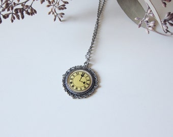Love Is Ticking - Silver Clock Necklace