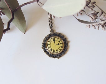 Love Is Ticking - Brass Clock Necklace
