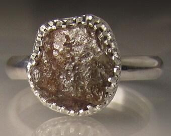 Chocolate Raw Diamond Engagement Ring -  3.80CTS