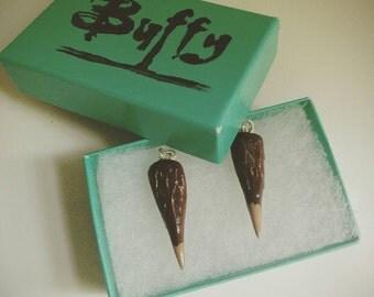 Buffy / vampire stake earrings