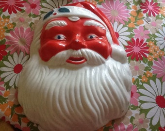 Vintage Santa Claus Light Wall Hanging Sconce Retro Kitsch Christmas