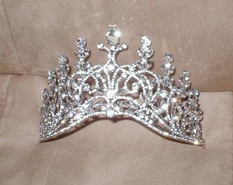 Vintage Rhinestone Bridal Tiara Crown Headpiece