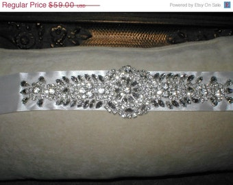 Bridal Rhinestone Sash Bling Belt