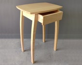 """26.5"""" Side Table in Maple with Drawer"""