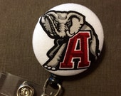 ALABAMA Crimson Tide Retractable ID Badge Reel