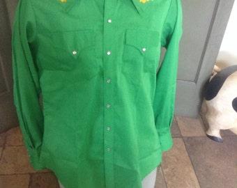 Vintage Rockmount Ranch Wear sz 15 1/2 Pearl Snaps Western Shirt
