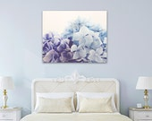 hydrangeas bedroom art canvas wrap pastel blue lilac wall art baby girl wall decor hydrangea fine art flower photography floral nursery art