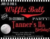Wiffle Ball Digital Party Invitation