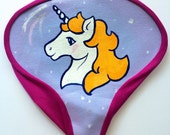 SALE Unicorn saddle cover - lilac and gold