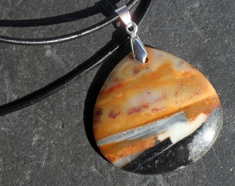 Waves on the Rocky Shore - Beautiful Picturesque Amazonite Necklace