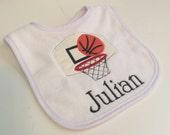 Basketball personalized monogrammed bib
